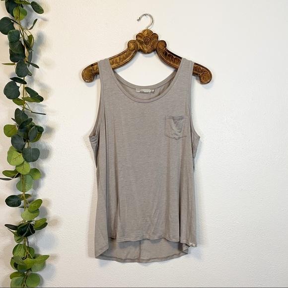 prana   grey pocket tank top